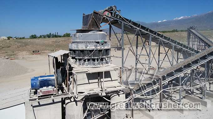 PYB1750 cone crusher for 200 t/h pebble crusher plant