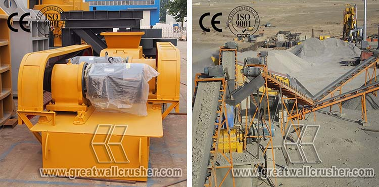 roller crusher and jaw crusher for crushing plant Philippines